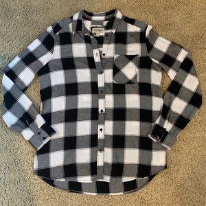 Express Plaid Boyfriend Shirt - size S